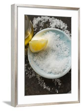 Coarse Salt with Lemon and Olive Oil-Foodcollection-Framed Photographic Print