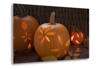 Atmospheric Pumpkin Lanterns-Foodcollection-Metal Print