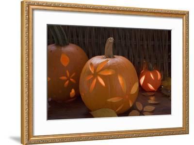 Atmospheric Pumpkin Lanterns-Foodcollection-Framed Photographic Print