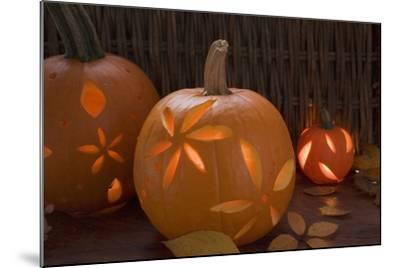 Atmospheric Pumpkin Lanterns-Foodcollection-Mounted Photographic Print