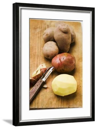 Red Potatoes, One Peeled-Eising Studio - Food Photo and Video-Framed Photographic Print