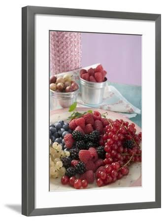 Mixed Berries on a Plate-Foodcollection-Framed Photographic Print
