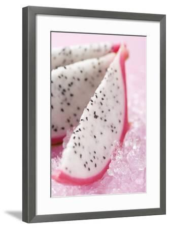 Wedges of Pitahaya on Crushed Ice-Foodcollection-Framed Photographic Print