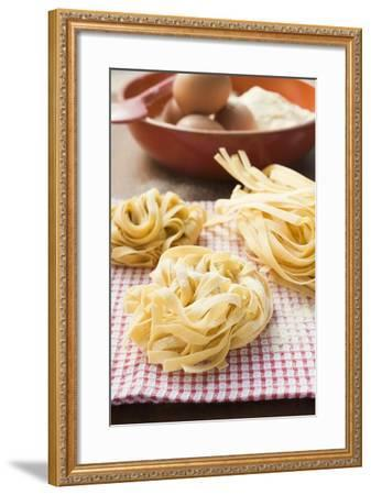 Three Ribbon Pasta Nests-Foodcollection-Framed Photographic Print