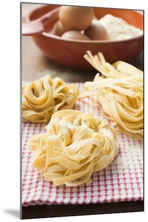 Three Ribbon Pasta Nests-Foodcollection-Mounted Photographic Print