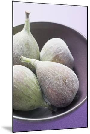 Four Fresh Figs in Bowl (Detail)-Foodcollection-Mounted Photographic Print