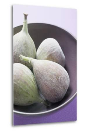 Four Fresh Figs in Bowl (Detail)-Foodcollection-Metal Print