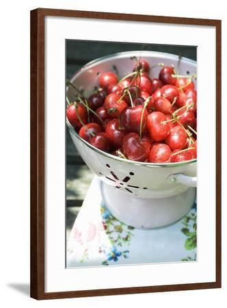 Cherries in Colander-Foodcollection-Framed Photographic Print