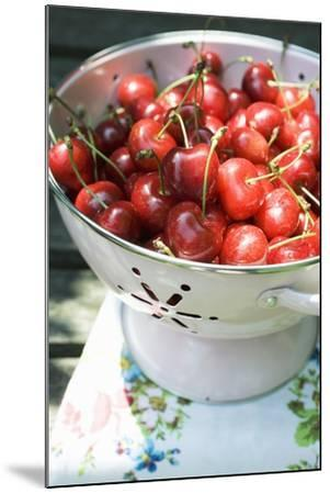 Cherries in Colander-Foodcollection-Mounted Photographic Print
