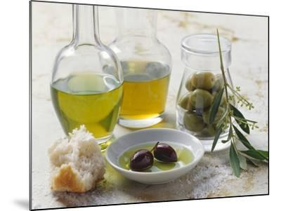 Still Life with Olives and Different Types of Olive Oil-Eising Studio - Food Photo and Video-Mounted Photographic Print