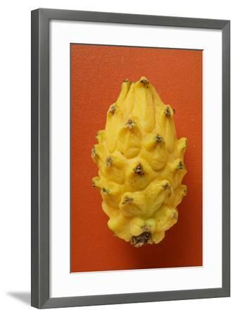 Pitahaya on Red Background-Foodcollection-Framed Photographic Print