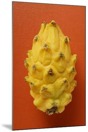 Pitahaya on Red Background-Foodcollection-Mounted Photographic Print