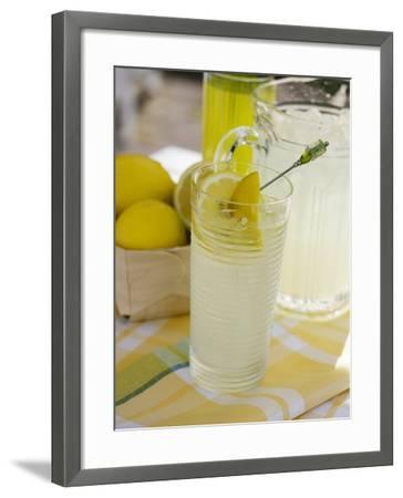 Lemonade in Glass and Jug-Foodcollection-Framed Photographic Print