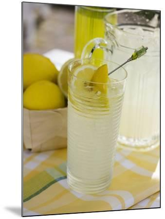 Lemonade in Glass and Jug-Foodcollection-Mounted Photographic Print