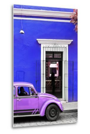 ¡Viva Mexico! Collection - Volkswagen Beetle Car - Royal Blue & Purple-Philippe Hugonnard-Metal Print