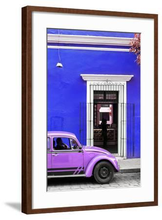 ¡Viva Mexico! Collection - Volkswagen Beetle Car - Royal Blue & Purple-Philippe Hugonnard-Framed Photographic Print