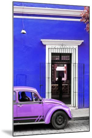 ¡Viva Mexico! Collection - Volkswagen Beetle Car - Royal Blue & Purple-Philippe Hugonnard-Mounted Photographic Print