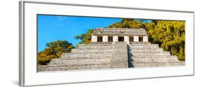 ¡Viva Mexico! Panoramic Collection - Mayan Temple of Inscriptions with Fall Colors II-Philippe Hugonnard-Framed Photographic Print