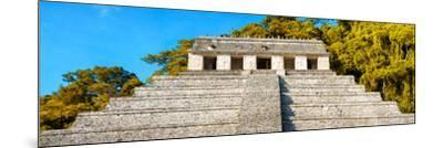 ¡Viva Mexico! Panoramic Collection - Mayan Temple of Inscriptions with Fall Colors II-Philippe Hugonnard-Mounted Photographic Print
