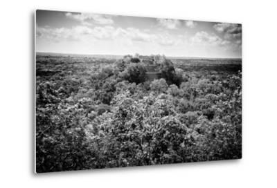 ?Viva Mexico! B&W Collection - Ruins of the ancient Mayan city of Calakmul-Philippe Hugonnard-Metal Print