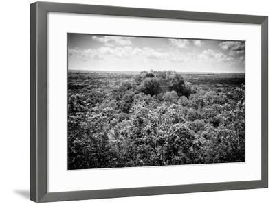 ?Viva Mexico! B&W Collection - Ruins of the ancient Mayan city of Calakmul-Philippe Hugonnard-Framed Photographic Print
