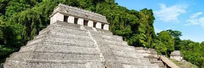 ¡Viva Mexico! Panoramic Collection - Mayan Temple of Inscriptions - Palenque VI-Philippe Hugonnard-Framed Photographic Print
