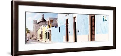 ¡Viva Mexico! Panoramic Collection - Urban Scene Campeche IV-Philippe Hugonnard-Framed Photographic Print