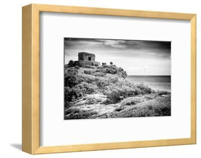 ¡Viva Mexico! B&W Collection - Tulum Riviera Maya I-Philippe Hugonnard-Framed Photographic Print