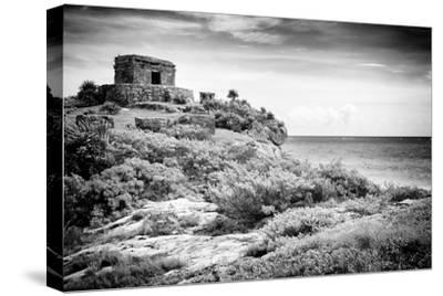 ¡Viva Mexico! B&W Collection - Tulum Riviera Maya I-Philippe Hugonnard-Stretched Canvas Print