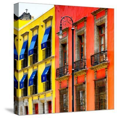 ¡Viva Mexico! Square Collection - Mexico City Colorful Facades II-Philippe Hugonnard-Stretched Canvas Print