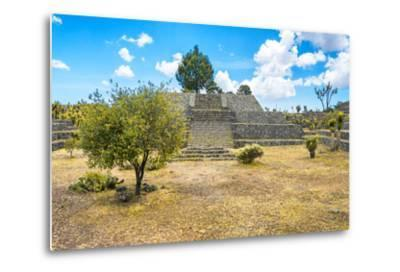 ?Viva Mexico! Collection - Pyramid of Cantona II - Puebla-Philippe Hugonnard-Metal Print