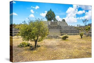 ?Viva Mexico! Collection - Pyramid of Cantona II - Puebla-Philippe Hugonnard-Stretched Canvas Print