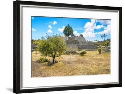 ?Viva Mexico! Collection - Pyramid of Cantona II - Puebla-Philippe Hugonnard-Framed Photographic Print