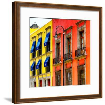 ¡Viva Mexico! Square Collection - Mexico City Colorful Facades II-Philippe Hugonnard-Framed Photographic Print