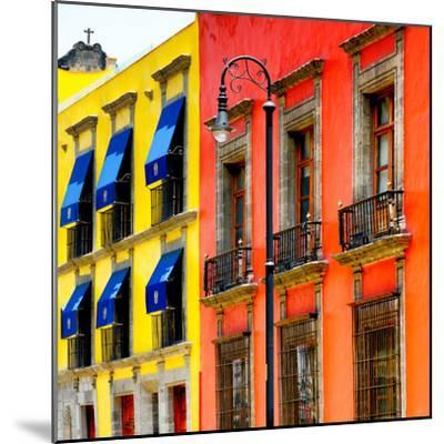 ¡Viva Mexico! Square Collection - Mexico City Colorful Facades II-Philippe Hugonnard-Mounted Photographic Print