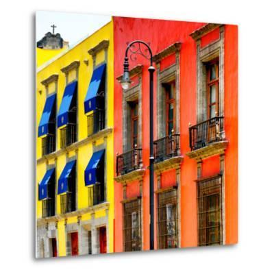 ¡Viva Mexico! Square Collection - Mexico City Colorful Facades II-Philippe Hugonnard-Metal Print
