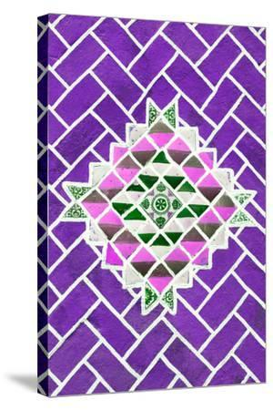 ?Viva Mexico! Collection - Purple Mosaics-Philippe Hugonnard-Stretched Canvas Print