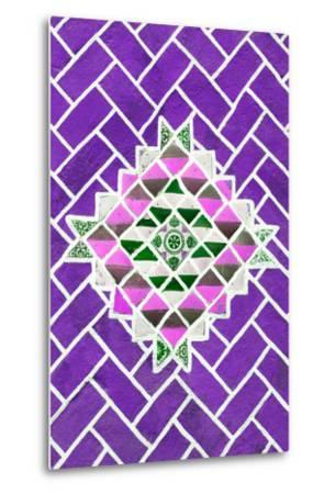 ?Viva Mexico! Collection - Purple Mosaics-Philippe Hugonnard-Metal Print