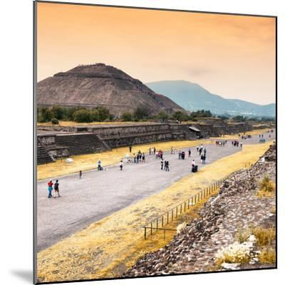 ¡Viva Mexico! Square Collection - Teotihuacan Pyramids at Sunset-Philippe Hugonnard-Mounted Photographic Print