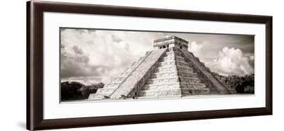 ¡Viva Mexico! Panoramic Collection - El Castillo Pyramid in Chichen Itza V-Philippe Hugonnard-Framed Photographic Print