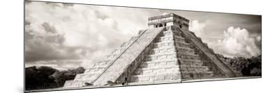 ¡Viva Mexico! Panoramic Collection - El Castillo Pyramid in Chichen Itza V-Philippe Hugonnard-Mounted Photographic Print