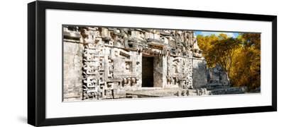 ¡Viva Mexico! Panoramic Collection - Hochob Mayan Pyramid III-Philippe Hugonnard-Framed Photographic Print