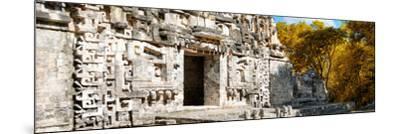 ¡Viva Mexico! Panoramic Collection - Hochob Mayan Pyramid III-Philippe Hugonnard-Mounted Photographic Print