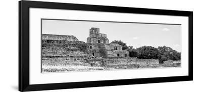 ¡Viva Mexico! Panoramic Collection - Maya Archaeological Site - Edzna V-Philippe Hugonnard-Framed Photographic Print
