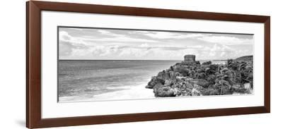 ¡Viva Mexico! Panoramic Collection - Caribbean Coastline in Tulum X-Philippe Hugonnard-Framed Photographic Print