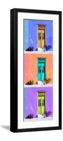 ¡Viva Mexico! Panoramic Collection - Tree Colorful Doors X-Philippe Hugonnard-Framed Photographic Print
