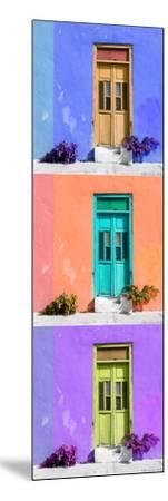 ¡Viva Mexico! Panoramic Collection - Tree Colorful Doors X-Philippe Hugonnard-Mounted Photographic Print