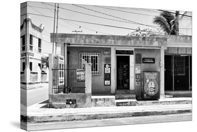 "?Viva Mexico! B&W Collection - ""La Esquina"" Supermarket - Cancun-Philippe Hugonnard-Stretched Canvas Print"