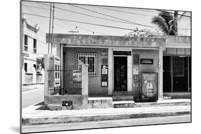 "?Viva Mexico! B&W Collection - ""La Esquina"" Supermarket - Cancun-Philippe Hugonnard-Mounted Photographic Print"