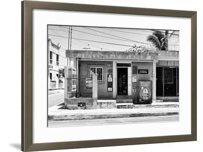 "?Viva Mexico! B&W Collection - ""La Esquina"" Supermarket - Cancun-Philippe Hugonnard-Framed Photographic Print"